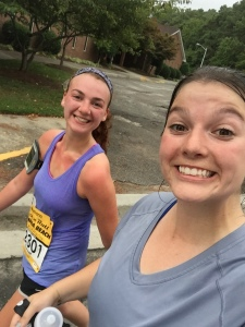 I always say to run your own race, but I had to remind myself this was a training run for me. This was Her first half and this race was HERS, all about her.