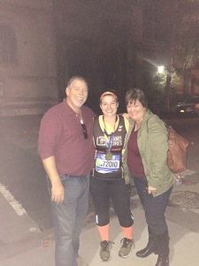 My parents <3 with a MARATHON FINISHER